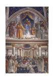 Stories of St. Francis, 1482-86 Giclée-tryk af Domenico Ghirlandaio
