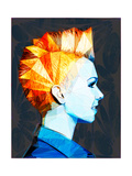 Girl with Mohawk Prints by Enrico Varrasso