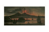 Night Eruption of Vesuvius and the Gulf of Naples, 1748 Giclee Print by Tommaso Ruiz