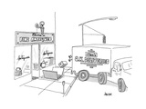 """A box from a truck labeled """"Stan's O.K. Deliveries"""" is thrown into the sto... - New Yorker Cartoon Premium Giclee Print by Jack Ziegler"""