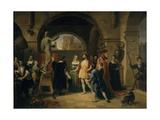 Francis I in the Studio of Benvenuto Cellini Giclee Print by Francesco Podesti