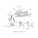 """I'm having my entrails read."" - New Yorker Cartoon Premium Giclee Print by David Sipress"