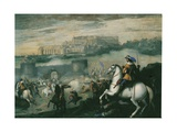Battle in Castel Sant'Elmo, Naples Giclee Print by Aniello Falcone