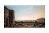 Ferdinand Iv on Horseback and His Entourage in Capodimonte, Naples Giclee Print by Antonio Joli