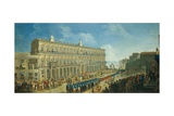 Turkish Ambassador at the Royal Palace, Naples Giclee Print by Pietro Fabris