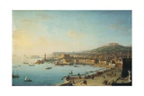 Naples Seen Form the Eastern Coast Giclée-tryk af Antonio Joli