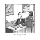 A man yelling loudly, complaining in a sushi restaurant  - New Yorker Cartoon Premium Giclee Print by Harry Bliss