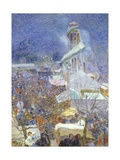 People Attending the Fair at Pietrasanta, 1912 Giclee Print by Plinio Nomellini