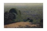 Garden Corner, 1912 Giclee Print by Angelo Morbelli