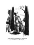 """Today I'm going to be unaware, uninvolved, uncommitted, and self-centered - New Yorker Cartoon Premium Giclee Print by Eldon Dedini"