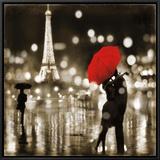 A Paris Kiss Framed Canvas Print by Kate Carrigan