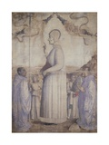 Blessed Lorenzo Giustiniani, Blessing Believers Giclée-tryk af Gentile Bellini