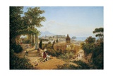 Naples Seen from the Slopes of the Vomero Giclee Print by Carl Wilhelm Goetzloff