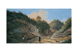 View of the Grotto in Posillipo Giclee Print by Pietro Fabris