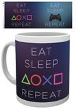 Playstation Eat Sleep Repeat Mug Tazza