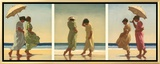 Summer Days Framed Canvas Print by Jack Vettriano