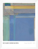Ocean Park 79, 1975 Framed Canvas Print by Richard Diebenkorn