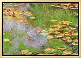 Water Lily Pond at Giverny Framed Canvas Print by Claude Monet