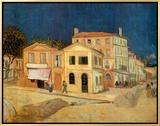 The Yellow House at Arles, c.1889 Framed Canvas Print by Vincent van Gogh