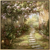 Tuscan Walkway Framed Canvas Print by  Haibin