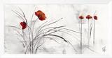 Reve Fleurie V Framed Canvas Print by Isabelle Zacher-finet