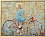 Bicycle Framed Canvas Print by Rebecca Kinkead