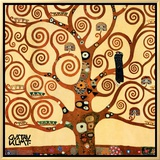 The Tree of Life, Stoclet Frieze, c.1909 (detail) Framed Canvas Print by Gustav Klimt