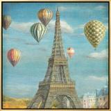 Balloon Festival Framed Canvas Print by Danhui Nai