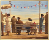 The Pier Framed Canvas Print by Jack Vettriano