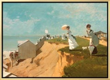Long Branch New Jersey Framed Canvas Print by Winslow Homer