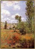 Ile St. Martin Framed Canvas Print by Claude Monet