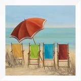 Four Summer I Framed Canvas Print by Carol Robinson