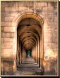 Archway through Manchester, England Framed Canvas Print by Robin Whalley