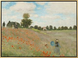 Poppy Field, Near Argenteuil, c.1873 Framed Canvas Print by Claude Monet