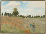 Poppy Field, Near Argenteuil, c.1873 額入りキャンバスプリント : クロード・モネ