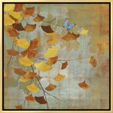Ginkgo Branch I Framed Canvas Print by Asia Jensen