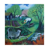 Allotment Cat Giclee Print by Lisa Graa Jensen
