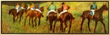 Racehorses in a Landscape (detail) Framed Canvas Print by Edgar Degas