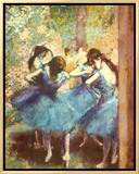 Dancers in Blue, c.1895 Framed Canvas Print by Edgar Degas