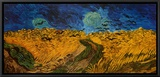 Wheatfield with Crows, c.1890 Framed Canvas Print by Vincent van Gogh