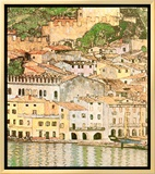 Malcesine sul Garda Framed Canvas Print by Gustav Klimt