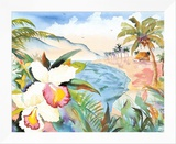 Hawaiian Orchids Framed Canvas Print by Terry Madden