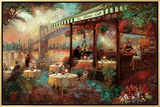 The River Café Framed Canvas Print by Ruane Manning
