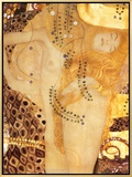 Sea Serpent, c.1907 Framed Canvas Print by Gustav Klimt