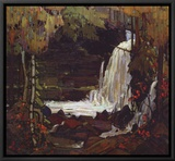 Woodland Waterfall Framed Canvas Print by Tom Thomson