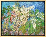 Blossoming Chestnut Branches, c.1890 Framed Canvas Print by Vincent van Gogh