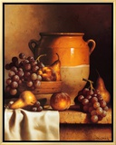 Confit Jar with Bowl Framed Canvas Print by Loran Speck