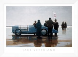 Pendine Beach Framed Canvas Print by Jack Vettriano