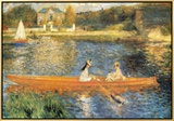 The Seine at Asnieres Framed Canvas Print by Pierre-Auguste Renoir