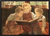 The Fairy Tale Framed Canvas Print by Sir Walter Firle
